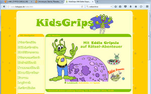 Screenshot: www.kidsgrips.de/index.htm