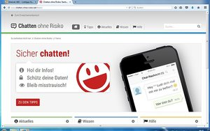 Screenshot: www.chatten-ohne-risiko.net