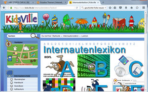 Screenshot: www.kidsville.de/internautenstation/lexikon/