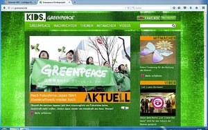 Screenshot: kids.greenpeace.de