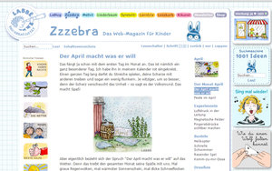 Screenshot www.zzzebra.de