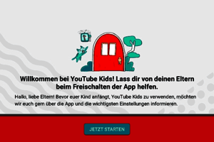 Screenshot aus der App; Bild: YouTube Kids
