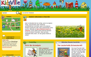 Screenshot www.kidsville.de