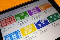 Tablet mit Bild von Padlet; Bild: Internet-ABC