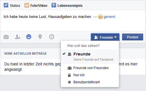 Screenshots facebook man sieht bei Facebook Screenshot